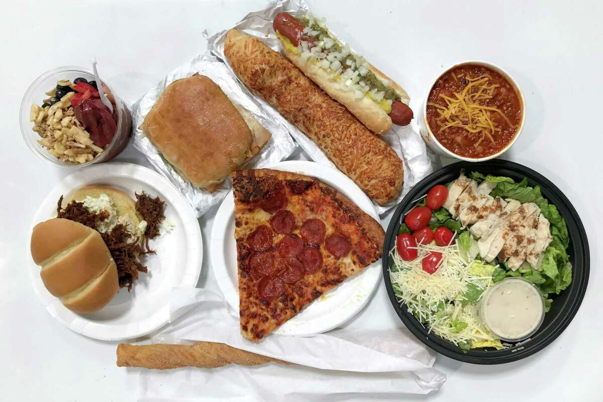 A selection of menu items from Costco