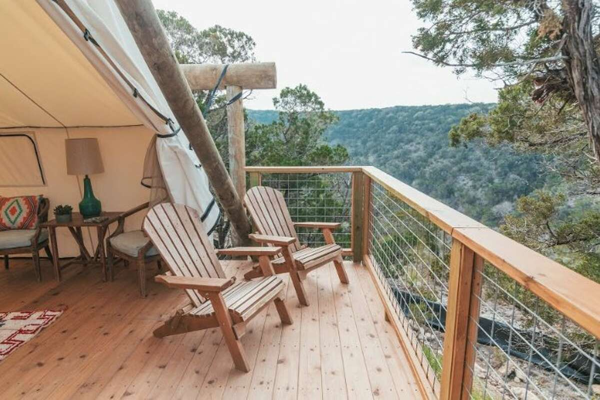 The Collective Hill Country in Wimberley, Texas has three types of high-end tents to choose from. You'll also get breakfast delivered to your tent and dinners to enjoy in your tent or on your deck. 970-716-1827, collectiveretreats.com