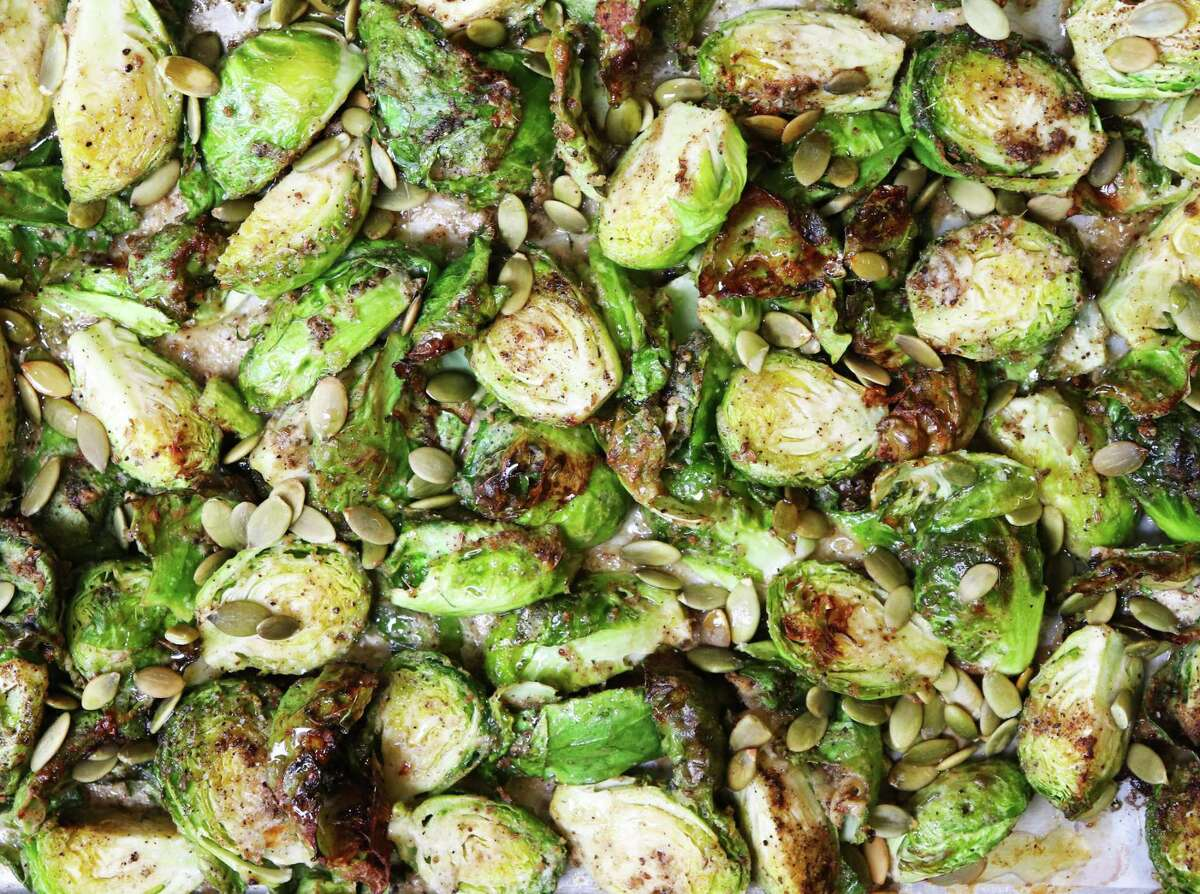 Roasted Brussels Sprouts get a nutrition and flavor boost from ginger.