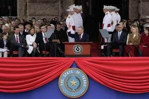 Texas Gov. Greg Abbott speaks during his Jan. 15 inauguration ceremony in Austin.