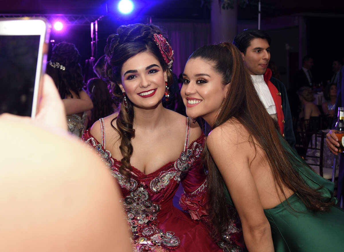 Friends and family of the Society of Martha Washington debutantes and escorts gather for the formal Martha's Ball on Friday, Feb. 22, 2019 at the TAMIU Student Center.