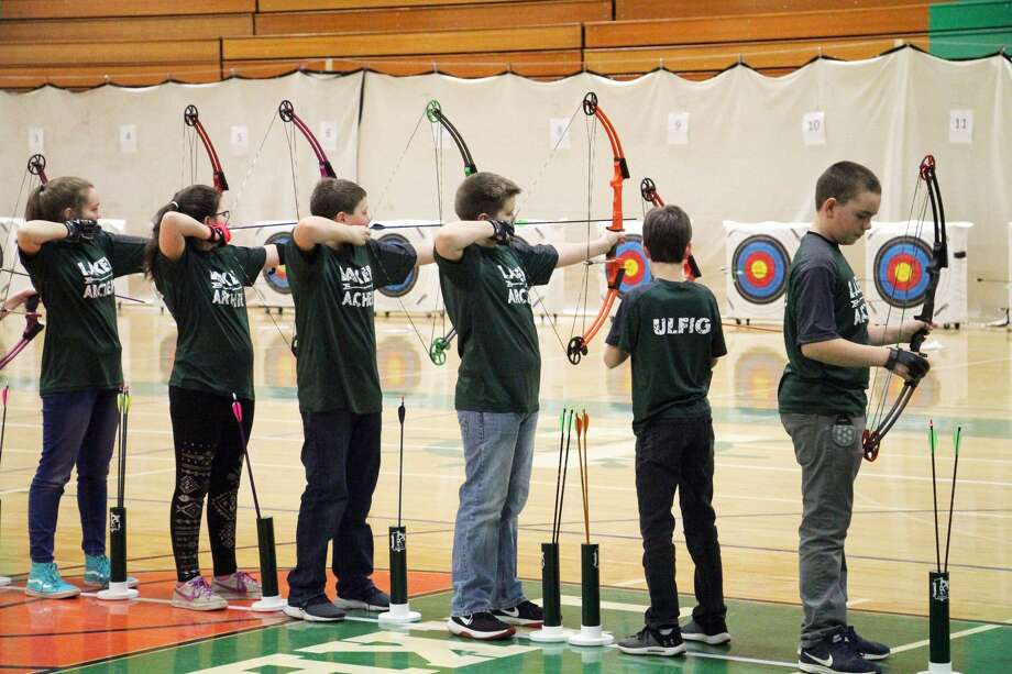 The Elkton-Pigeon-Bay Port Laker archery teams were some of the many talented teams to compete in an archery tournament on Saturday. Laker archers from all grade levels took part in the tournament. Photo: Seth Stapleton/Huron Daily Tribune