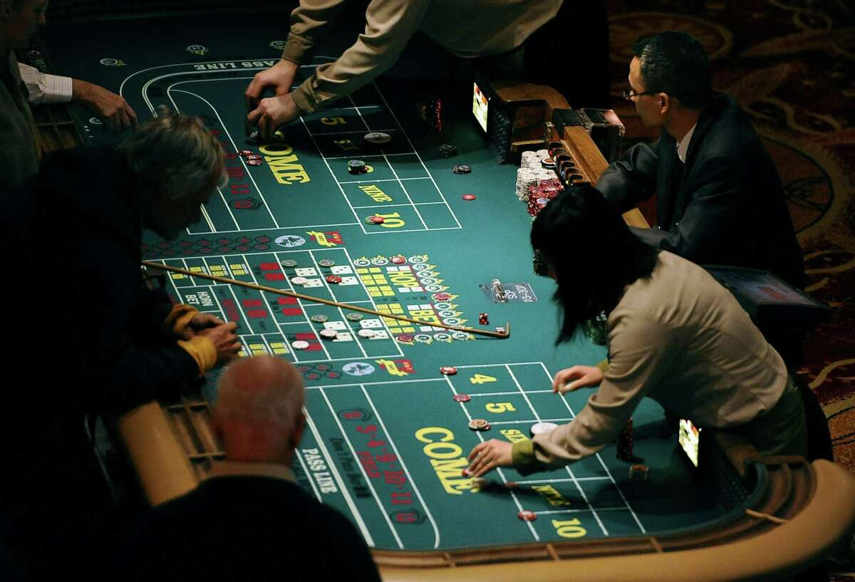 A craps table at the Mohegan Sun in Uncasville.