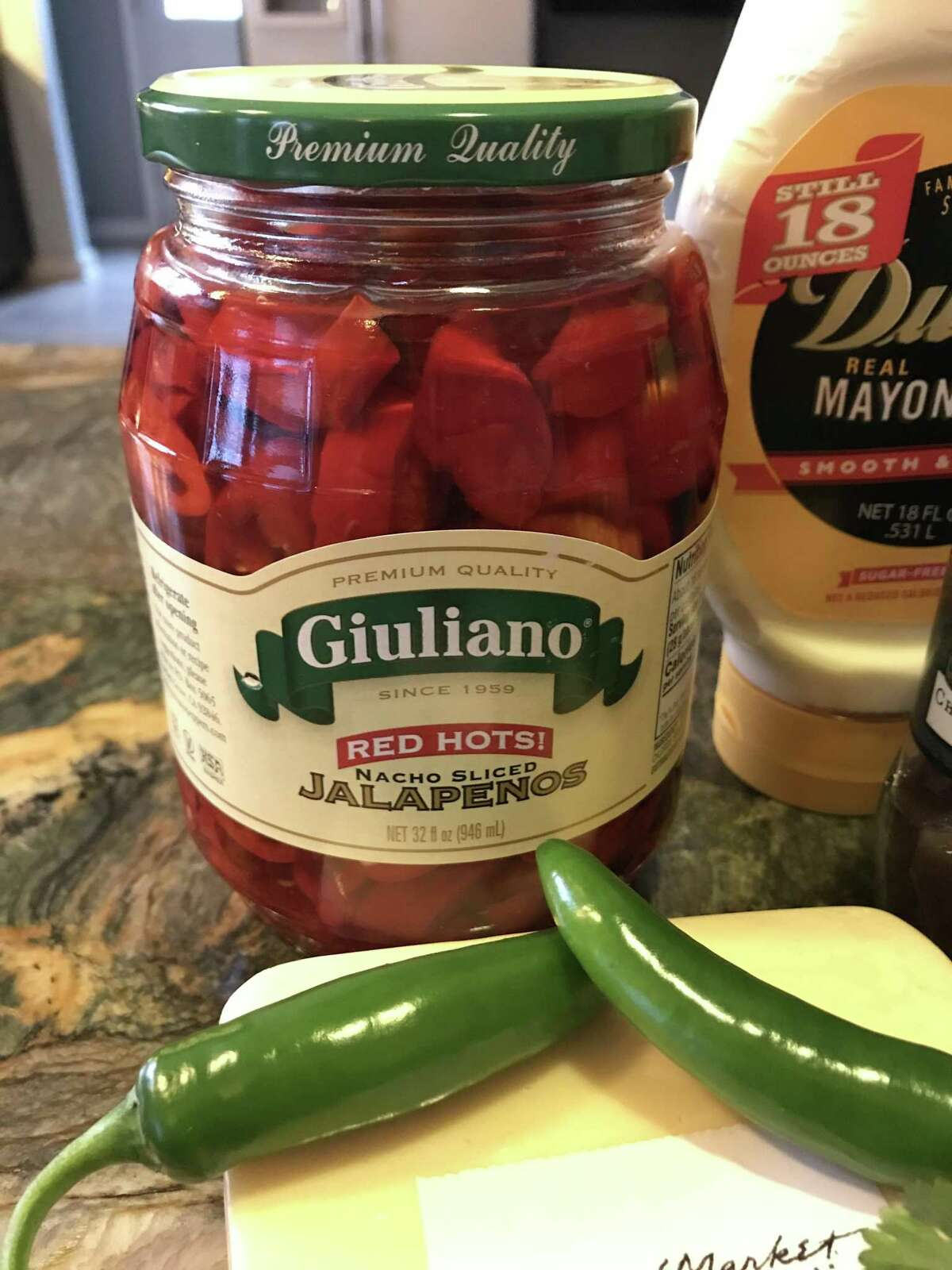 The brand of pickled red jalapeños I used for my Puro San Antonio Spicy Pimento Cheese. They are wonderful and will be a pantry staple in my house from now on.
