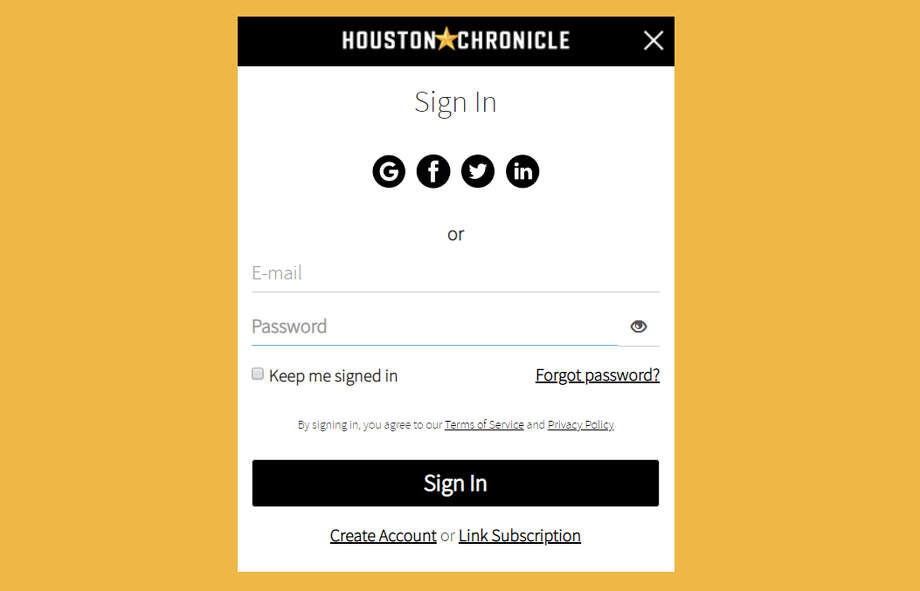 HoustonChronicle.com is getting a new log-in window and profile settings page. You can change your display name and password from here and manage newsletter sign-ups and alerts. Photo: Houston Chronicle