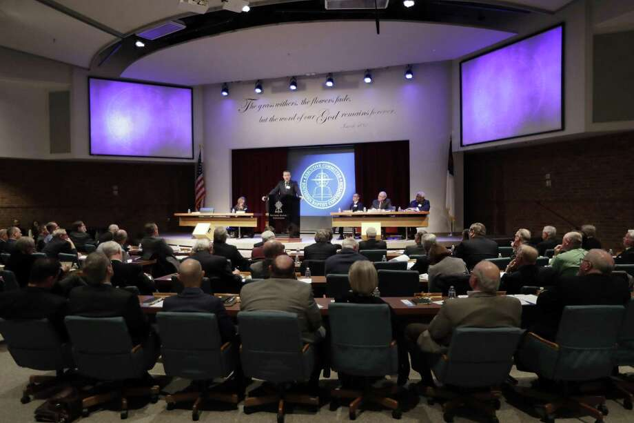 Southern Baptist Convention President J.D. Greear speaks to the denomination's executive committee Monday, Feb. 18, 2019, in Nashville, Tenn. Just days after a newspaper investigation revealed hundreds of sexual abuse cases by Southern Baptist ministers and lay leaders over the past two decades, Greear spoke about plans to address the problem. (AP Photo/Mark Humphrey) Photo: Mark Humphrey, STF / Associated Press / Copyright 2019 The Associated Press. All rights reserved
