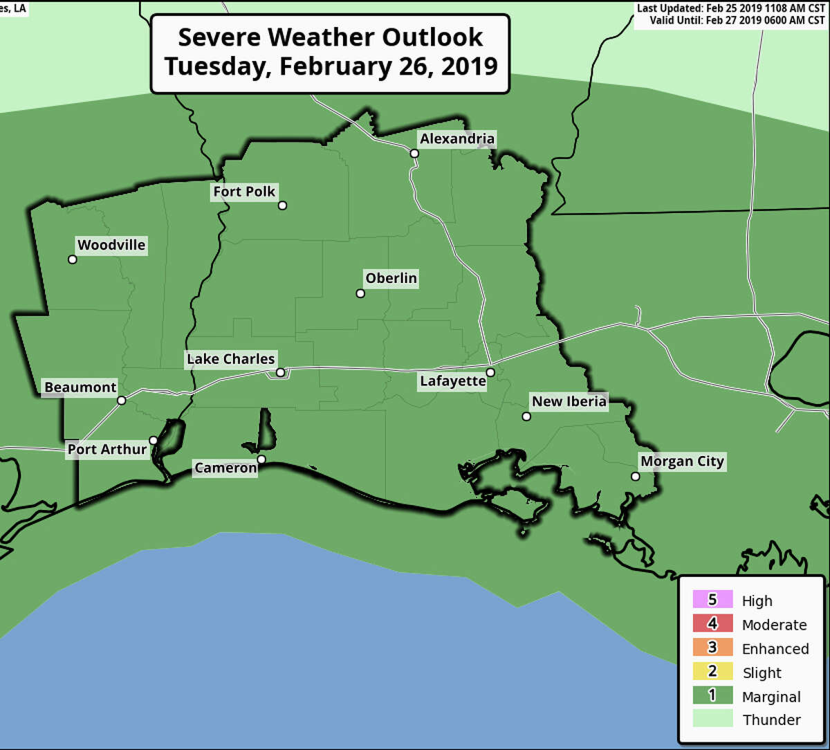 The National Weather Service is expecting hail in Southeast Texas tomorrow.