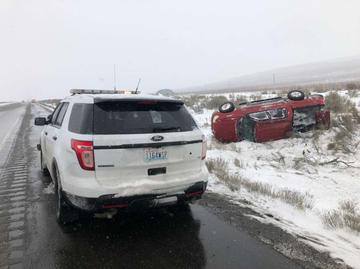 Multiple crashes were reported on Interstate 82 between Benton City and Oregon.