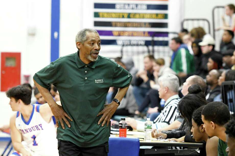 Coach Bernie Lofton and Bassick, ranked third in the state, have faced a challenging schedule playing as an independent. Photo: Krista Benson / Hearst Connecticut Media / The News-Times Freelance