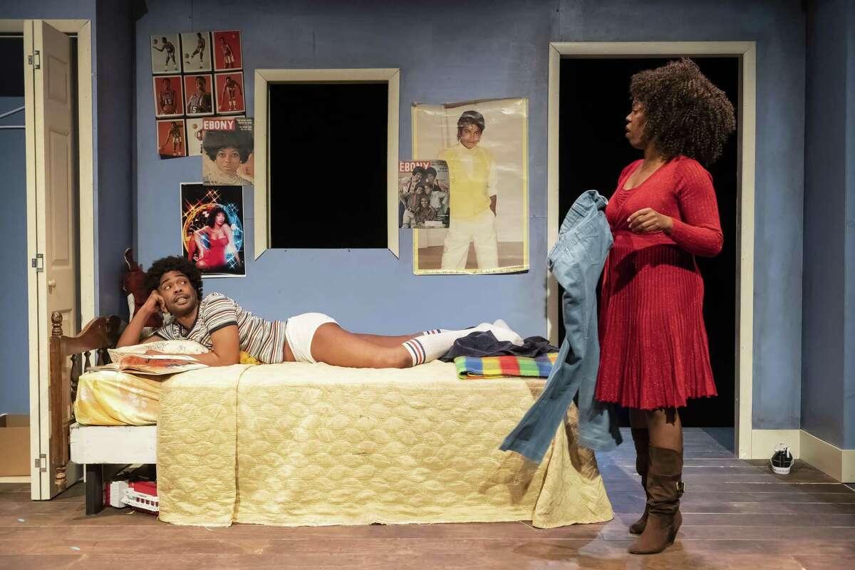 "Xzavien Hollins and Brittny Bush in ""Bootycandy,"" Catastrophic Theatre, 2019"