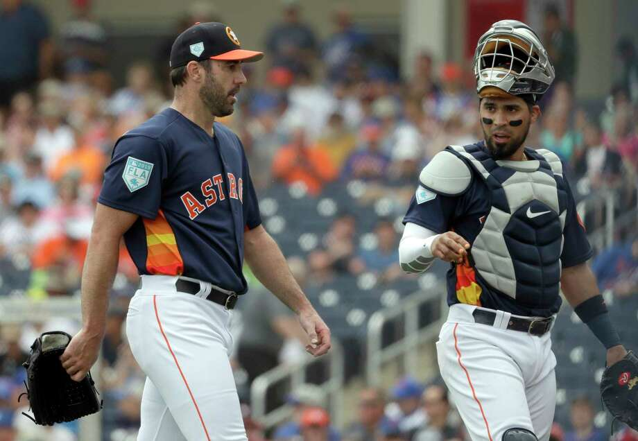632a7c1be Astros catcher Robinson Chirinos finds rapport with Justin Verlander ...