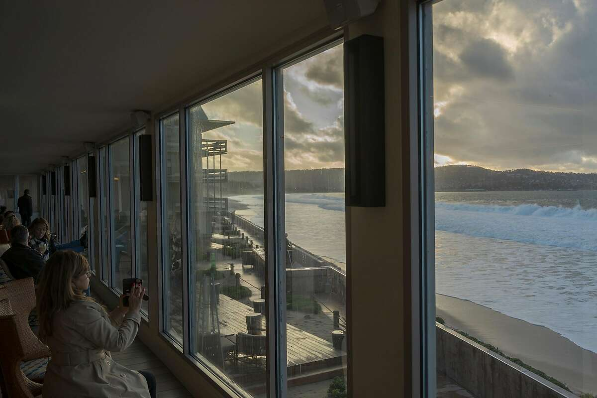 The view from the lobby of the Monterey Tides hotel in Seaside, Calif.