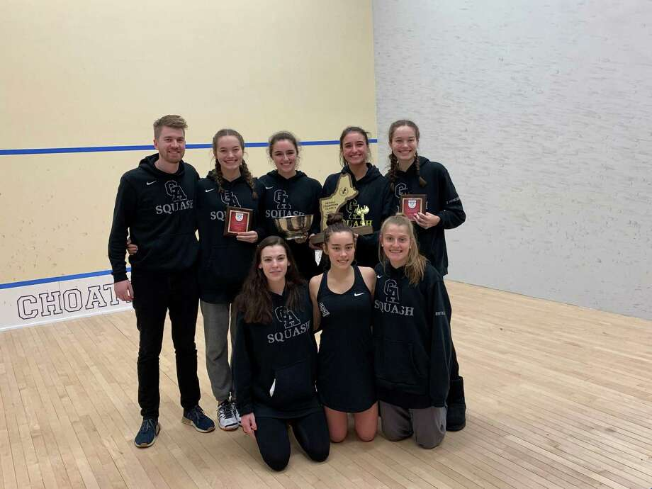 Greenwich Academy won the New England Interscholastic Squash Association Class A championship for the fourth straight season on Sunday at Choate Rosemary Hall in Wallingford. Photo: David Fierro / Hearst Media Connecticut