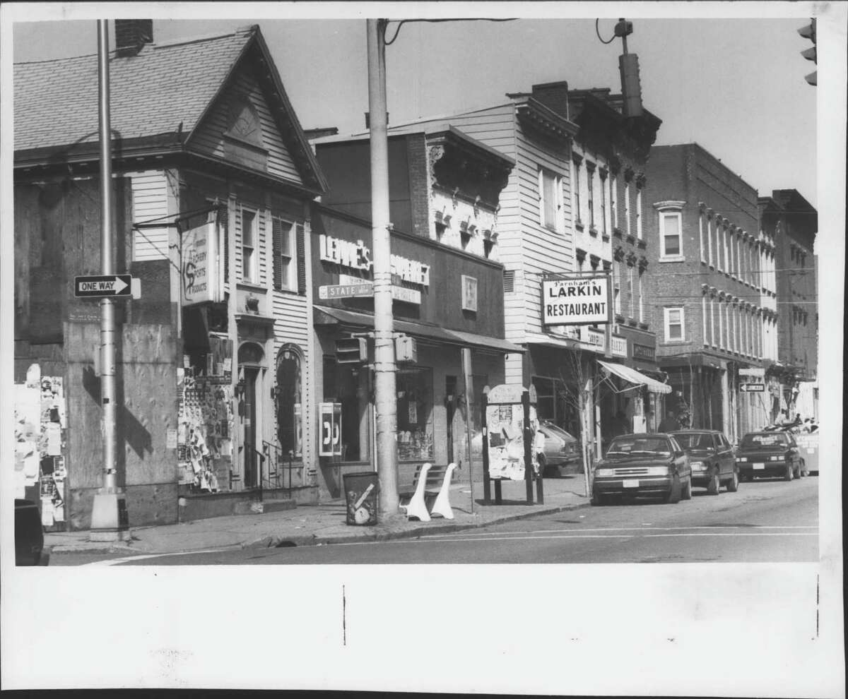 Click through the slideshow to see archival Times Union photos of Lark Street, spanning the 1960s to 1990s. View of Lark Street near Spring street in Albany, New York. February 29, 1992 (Luanne M. Ferris/Times Union Archive)