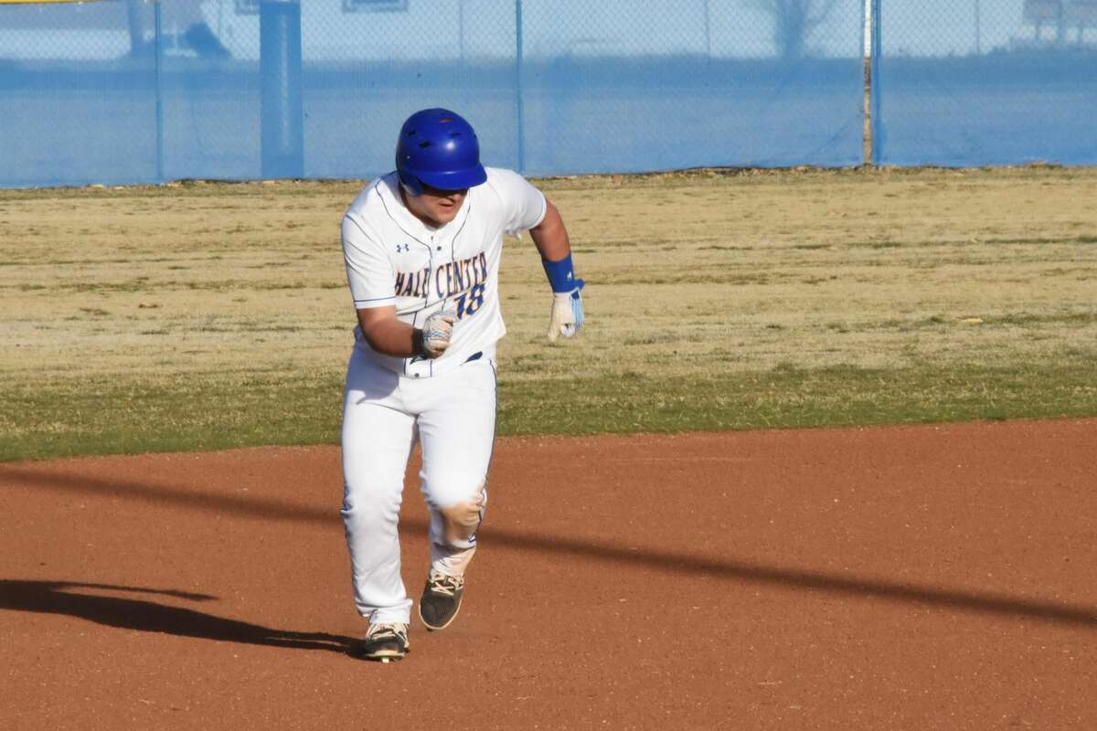 The Hale Center Owls baseball team powered 11 hits in the five-inning 13-3 win over the Clarendon Broncos on Monday in Hale Center.