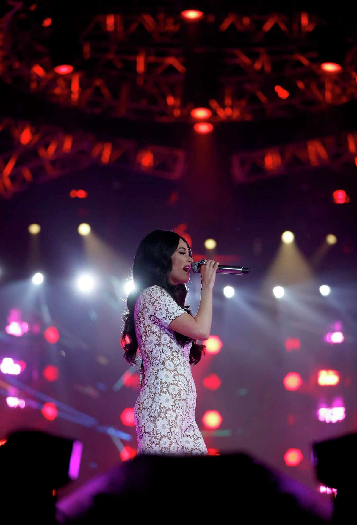 Kacey Musgraves performs during the Houston Livestock Show and Rodeo at NRG Stadium, Monday, Feb. 25, 2019, in Houston.