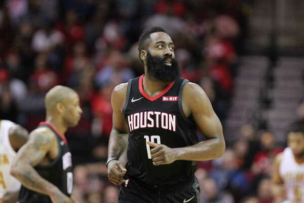 858540dfa02 1of2Houston Rockets guard James Harden (13) runs up court during the second  half of an NBA basketball game at Toyota Center on Monday