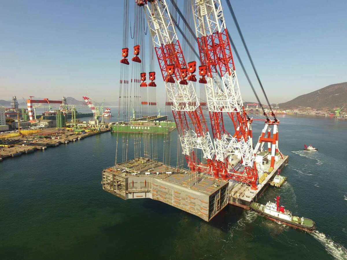 BP's Argos floating platform is being built by Samsung Heavy Industries in South Korea. The platform is supposed to come online in the Gulf of Mexico's Mad Dog field in 2021. The platform is part of the $9 billion Mad Dog Phase 2 project.