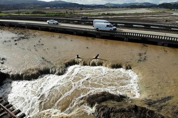Traffic: Floods, mudslides and hydroplaning cars snarl Bay Area