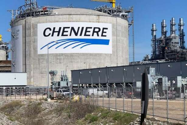 A storage tank at Cheniere Energy's Corpus Christi LNG export terminal. The Houston liquefied natural gas company closed 2018 with a $473 million profit as LNG exports continue to grow.