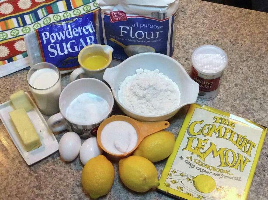 Ingredients for lemon loaf recipe. Photo: Stephen Fries /