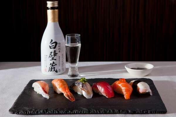Nigiri and Sake at Uptown Sushi