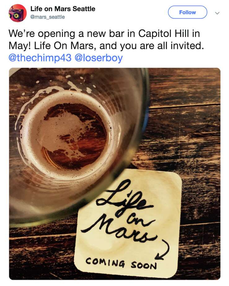 Life on Mars is coming to Pike and Harvard this May. Photo: Twitter