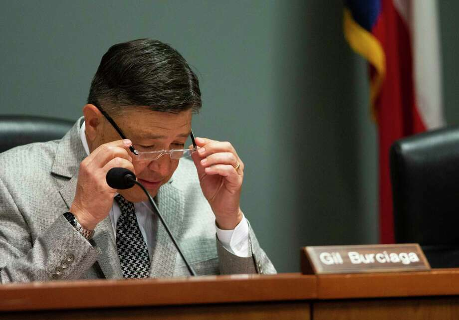 Board member Gilbert Burciaga has recused himself at least seven times since joining the board in 2015. Photo: Mark Mulligan, Staff Photographer / © 2018 Mark Mulligan / Houston Chronicle