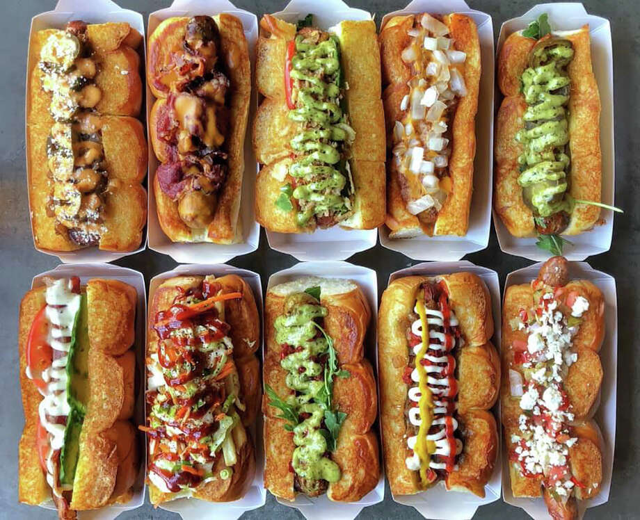 Dog Haus Biergarten, a California-based gourmet hot dog, sausage and burger chain, is developing its first New York location at 7 Southside Drive, Clifton Park, in the the Shops at Village Plaza. Photo: Dog Haus Biergarten