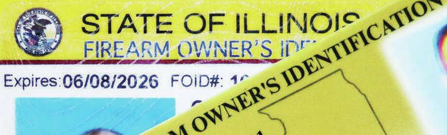 Illinois gun owners are required to have a valid Firearm Owner's Identification Card, or FOID, for which they must pass a background check for violent felonies, domestic violence and a history of mental illness but the system failed to stop the recent workplace shooting in Aurora, Illinois. In that case the shooter's FOID had been revoked, but no law enforcement agency took responsibility for making sure his firearms were surrendered. Photo: John Badman | Hearst Illinois