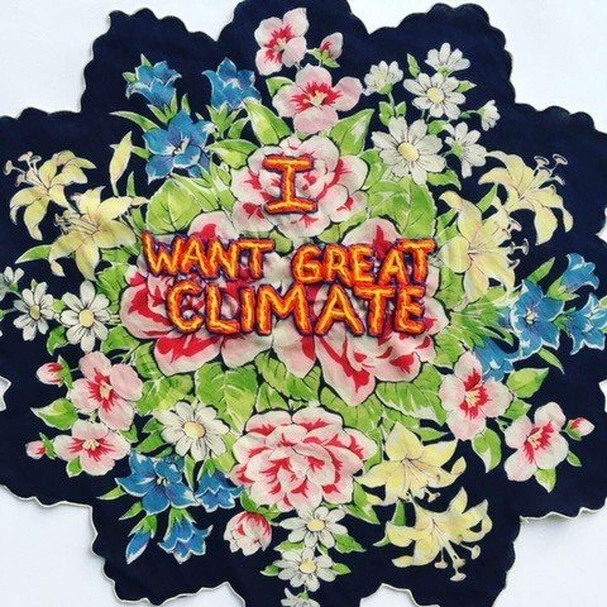 'Climate Hankie,' part of Diana Weymar's Tiny Pricks art project