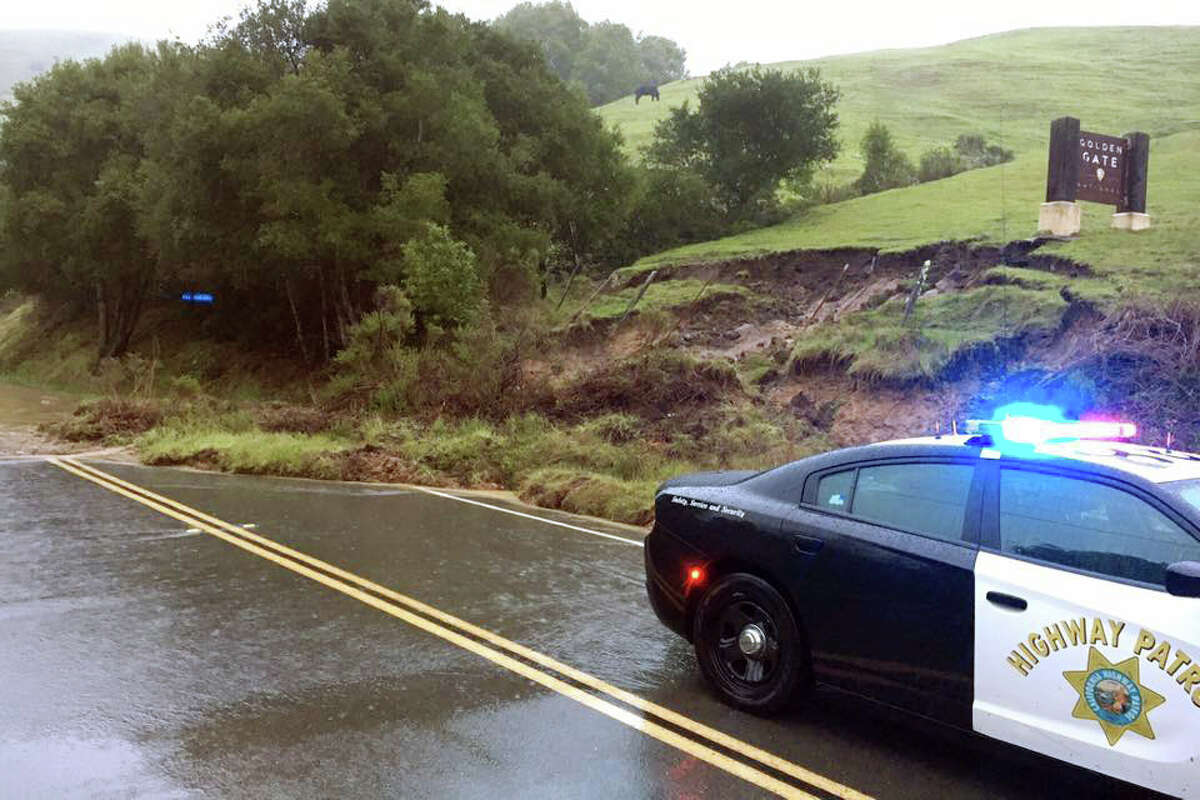 CHP Marin took this photo of a mudslide in Marin. Currently there is one way traffic control being conducted around mid slides on Sir Francis Drake Blvd. near Samual P. Taylor State Park. Highway 1 is closed from Pt. Reyes Station to Sir Francis Drake Blvd. and Platform Bridge Rd is closed from Sir Francis Drake Blvd. and Point Reyes-Petaluma Rd.