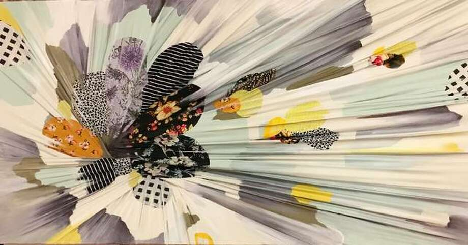 Carrie Gillen's art piece that she created during the 2018 EAC Art Alive fundraising event. See Gillen finish another piece at the 2019 Art Alive event Saturday. Photo: For The Telegraph