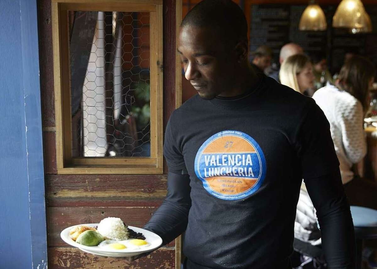 A server at Valencis Luncheria in Norwalk. Valencia Luncheria, Norwalk Best Central or South American - Readers' pick