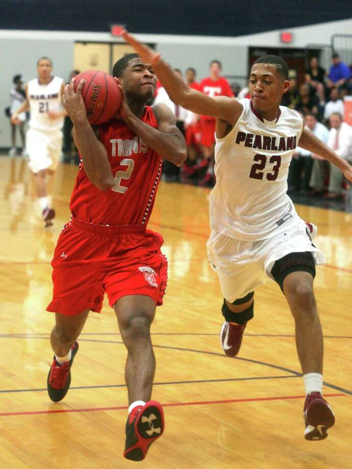 Pearland's Cameron Reynolds, shown in a high school playoff game against Fort Bend Travis, has signed a 10-day contract with the Minnesota Timberwolves. Photo: KAR HLAVA / Kar Hlava