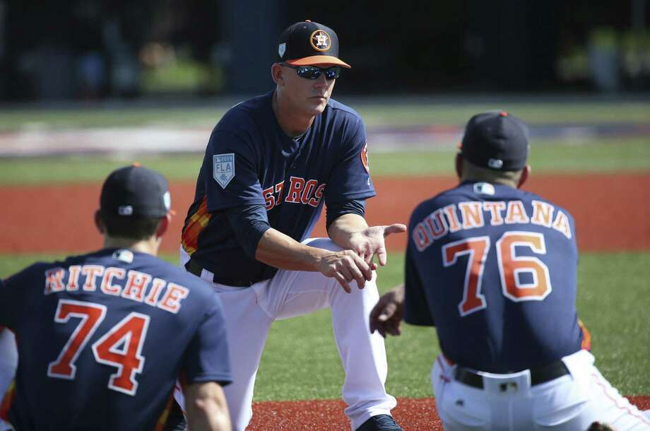 Astros manager A.J. Hinch can work on fine-tuning his team during the spring instead of worrying about major issues. Photo: Yi-Chin Lee, Staff / Houston Chronicle / © 2019 Houston Chronicle
