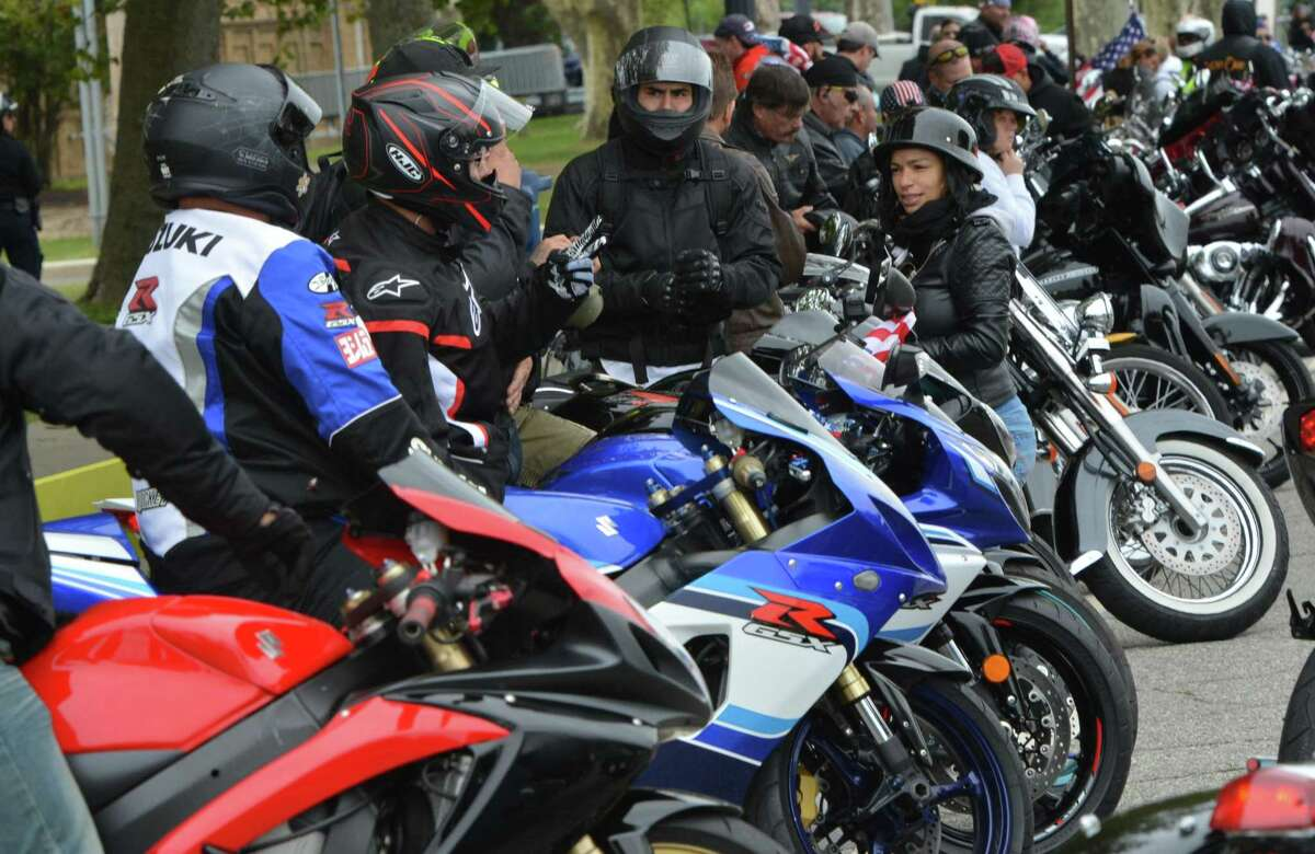 The 18th Annual CT United Ride on Sunday September 9, 2018 where around 2,000 motorcycle riders took part in Connecticut's largest annual 9/11 tribute riding from Norden Park in Norwalk Conn. through Fairfield County to finish at Bridgeport's Seaside Park.