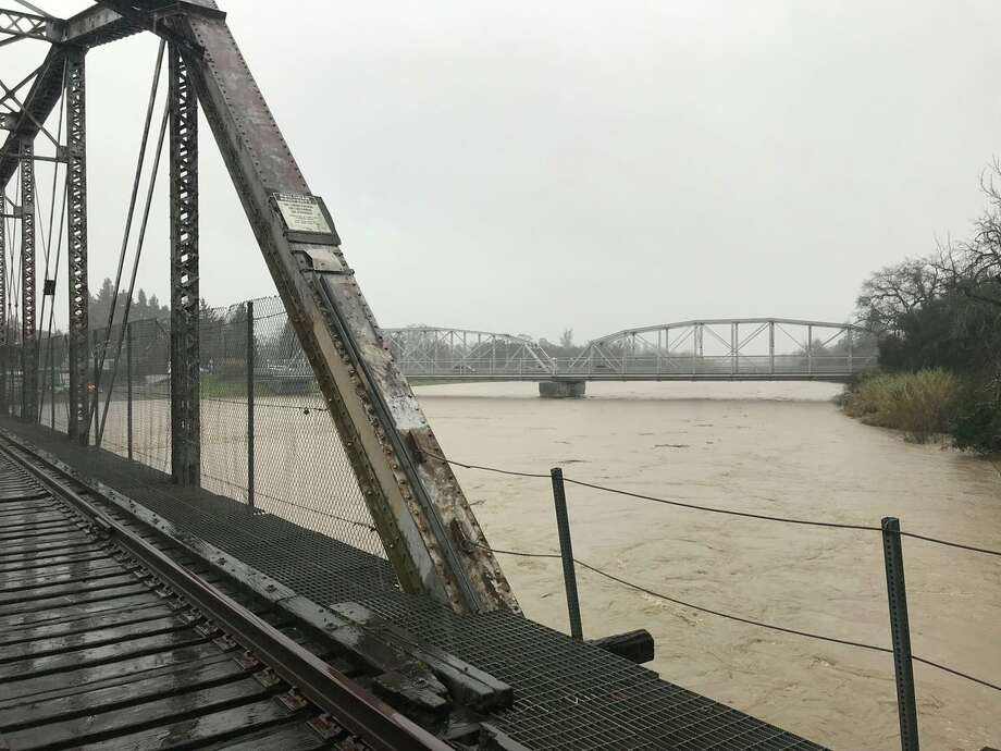 A view of the Russian River in Healdsburg on Tuesday, Feb. 26, 2019. Photo: NWS Bay Area