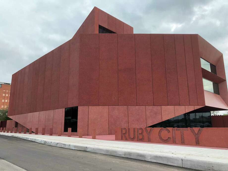 The exterior of Ruby City, architect David Adjaye's translation of a vision literally dreamed up by the late artist, collector and philanthropist Linda Pace. Photo: Richard A. Marini /Staff