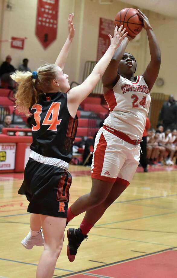 New Haven, Connecticut -Tuesday, February 26, 2019: Wilbur Cross H.S. vs. Ridgefield H.S. during the first round of the CIAC Class LL girls basketball tournament Tuesday evening at Wilbur Cross H.S. in New Haven. Photo: Peter Hvizdak / Hearst Connecticut Media / New Haven Register