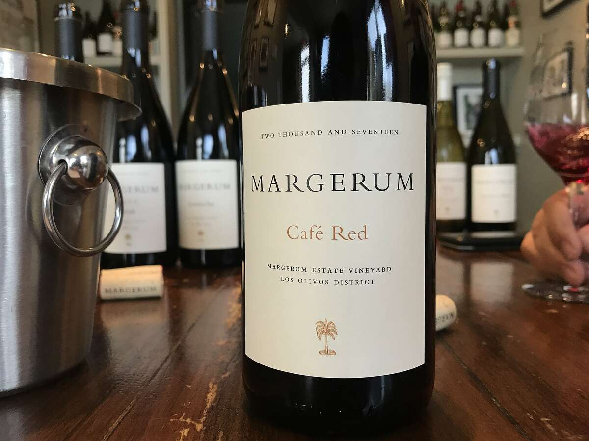 Margerum Cafe Red is a blend of Cinsault and Syrah from Santa Barbara County.