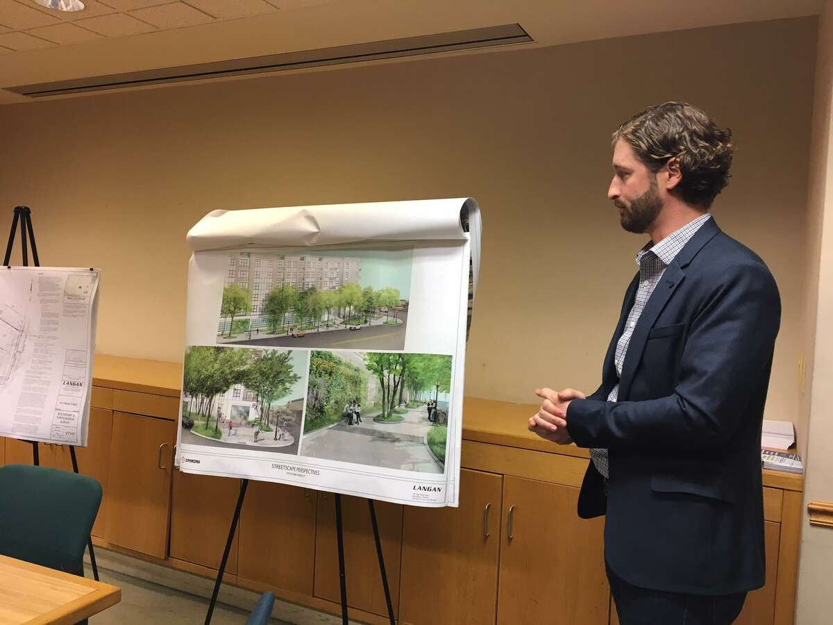 Michael Hunton of Langan explains why 19 trees are being removed from Union Street.