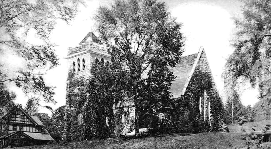 """This postcard depicts All Saints Church on Aspetuck Avenue in New Milford, which was active as a religious edifice until well into the 20th century. For many years since it has been known as St. Peter's Masonic Lodge. The building tucked to its west now serves as the home to the New Milford Children's Center. If you have a """"Way Back When"""" photograph you'd like to share, contact Deborah Rose at drose@newstimes.com or 860-355-7324. Photo: Courtesy Of Roger Szendy / The News-Times Contributed"""
