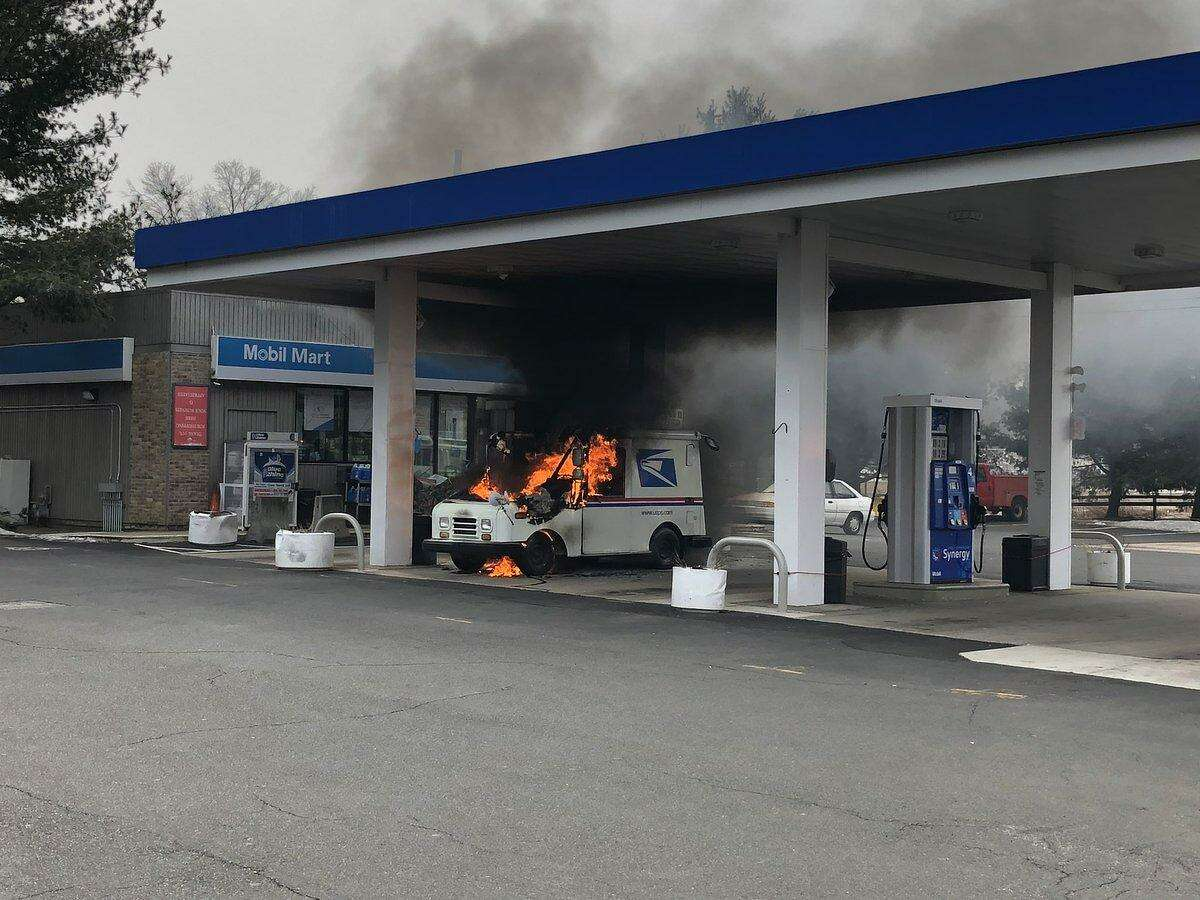 North Haven firefighters extinguished a blazing vehicle at 276 Washington Ave. Wednesday.
