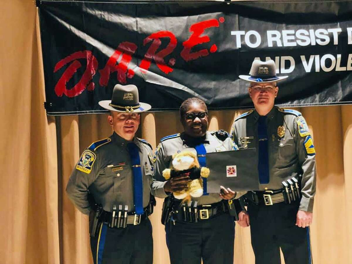 Twenty-four new officers graduated from the Drug Abuse Resistance Education Officer Training Program on Friday, Jan. 18, 2019, according to Connecticut State Police.