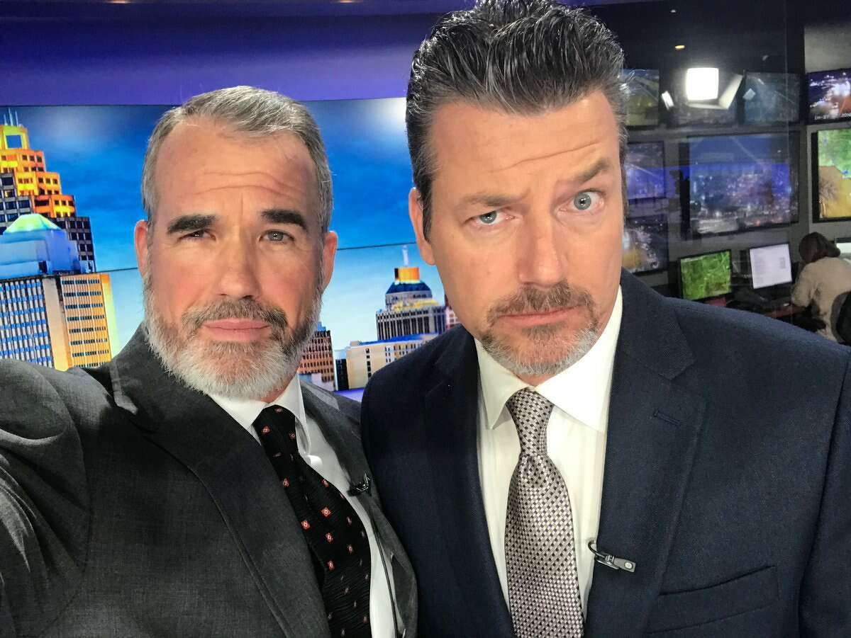 """KENS 5 Chief Meteorologist Bill Taylor posted on Twitter """"I'm gonna miss this guy. tomorrow night he hangs up the mic."""""""