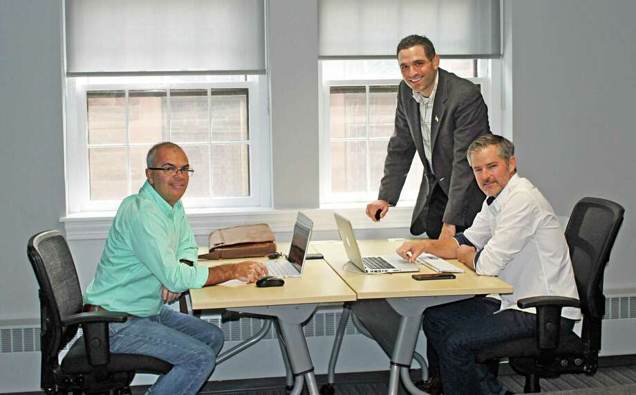"""MEWS+, the Middletown Entrepreneur Work Space, has partnered with local entrepreneur and experienced co-worker Tim Laubacher, to """"animate"""" the MEWS space at the Middlesex County Chamber of Commerce on Main Street. Photo: Contributed Photo"""