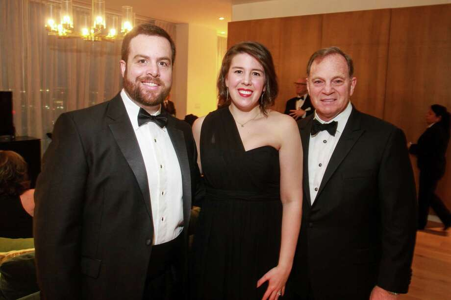 Asher and Cara Schusterman, from left, with Dr. Mark Schusterman at the Ars Lyrica gala at the Hotel Alessandra. Photo: Gary Fountain, Contributor / © 2019 Gary Fountain