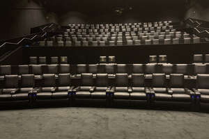 Inside the new AMC Metropark Square 10 theater in Shenandoah.