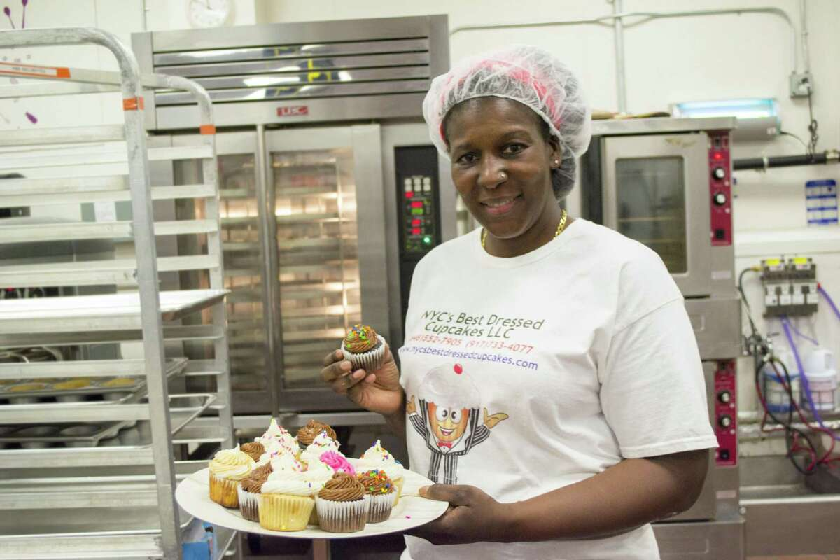 Joann Poe, the owner of NYC's Best Dressed Cupcakes, has received four loans from Grameen America. This microfinance organization provides small-dollar loans to women entrepreneurs, and it recently opened a Houston location.